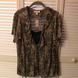 Layered lightweight blouse